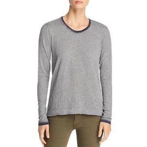 Wilt ombré-trim long sleeve tee